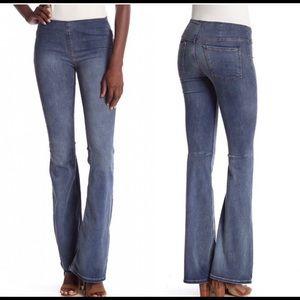 Free People pull on wide leg denim jeans